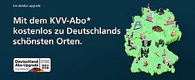 Grafik zur Aktion Abo-Upgrade: Zu sehen ist eine Deutschlandkarte mit vielen bekannten Sehenswürdigkeiten.