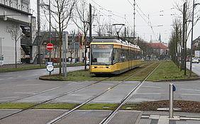 Trambahn im Streckenabschnitt Brauerstraße