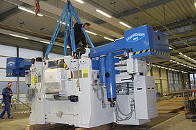 Unterflurdrehmaschine in der VBK-Werkstatt